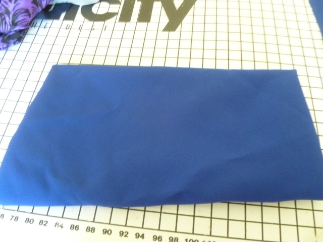 Blue fabric suitable for wondrous princess-seam dress