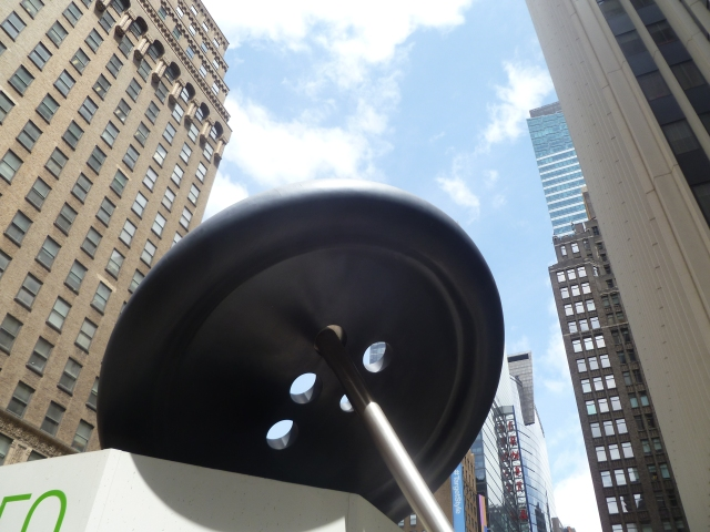 The Big Button in the garment district